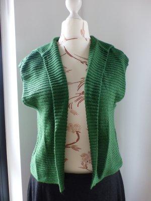 grüner Monari Grobstrick Cardigan Strickjacke Überzieher Strickjacke Blazer