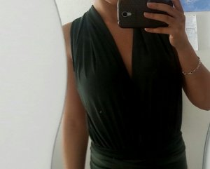 Missguided Backless Top green-dark green