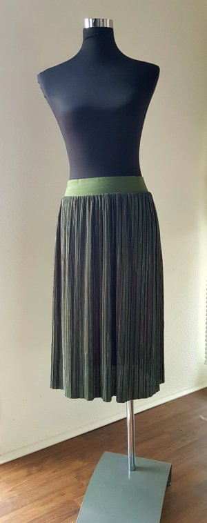 Noisy May Pleated Skirt olive green-khaki