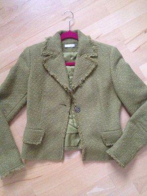 Grüner Promod Blazer im Vintagestil