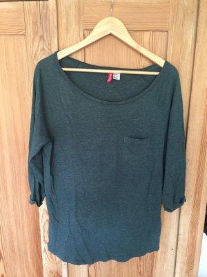 H&M Jersey de manga corta verde bosque-caqui