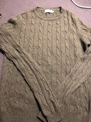 Amphora Cable Sweater green grey wool