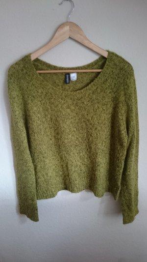 H&M Wollen trui bos Groen-groen Gemengd weefsel