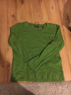 grüner Pullover aus Biobaumwolle