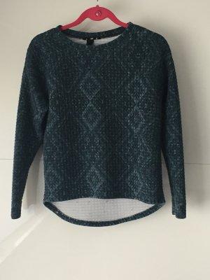 Grüner Pullover aus Jersey