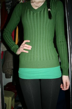 grüner Pullover Größe XS