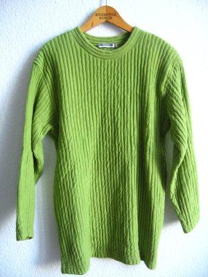 Grüner Pullover Vintage Ann Christine Cotton Baumwolle Struktur Minimal