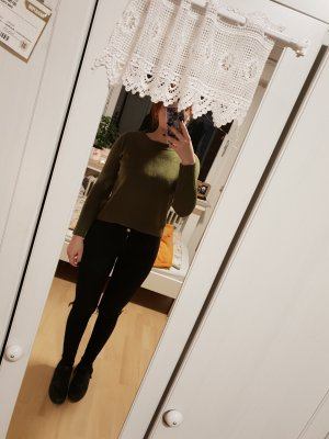 H&M Abito maglione verde oliva