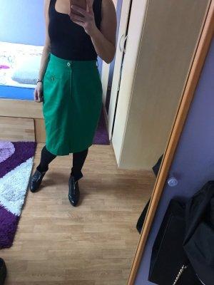 Falda de talle alto verde bosque
