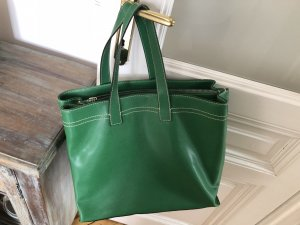 Carry Bag green imitation leather