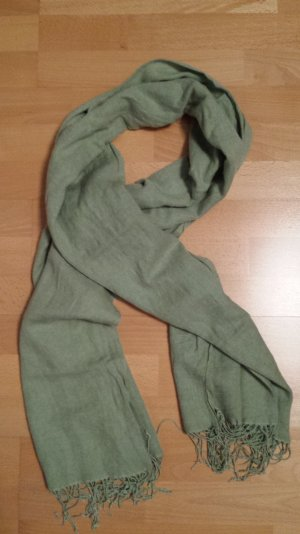 Pashmina lime-green silk
