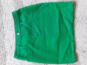 H&M Jupe en jeans vert forêt-vert coton
