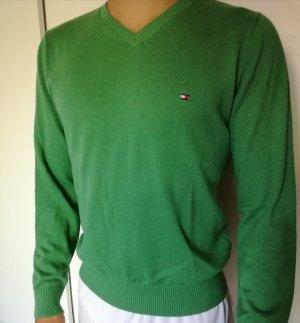 Grüner Tommy Hilfiger Pullover Herren Gr. S