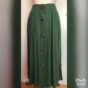 Grüner Trachtenrock aus Leinen