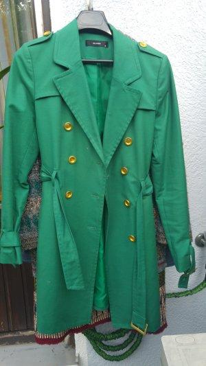 Hallhuber Trenchcoat vert forêt-doré coton