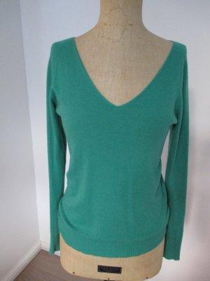 Grüner V-Ausschnitt Pullover von Benetton