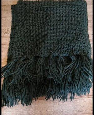 H&M Bufanda de lana verde oscuro