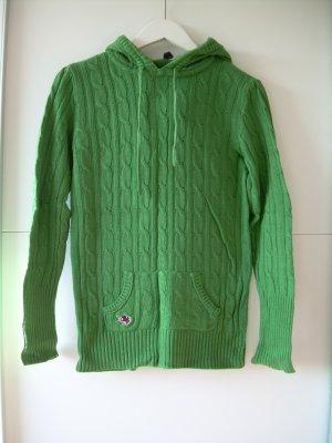 grüner Zopfmuster Strick-Pullover von Fishbone Gr. XL 42