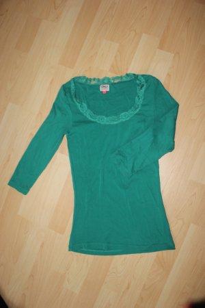 grünes 3/4 Longshirt