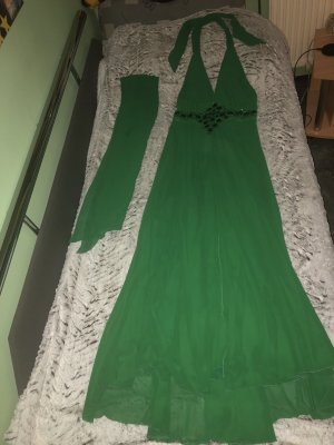 Grünes Abendkleid Ballkleid mit Stola festliches Kleid Größe 40