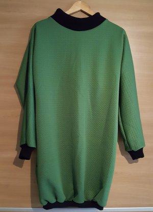 Grünes Ballonkleid Cloque Jersey Gr. 40