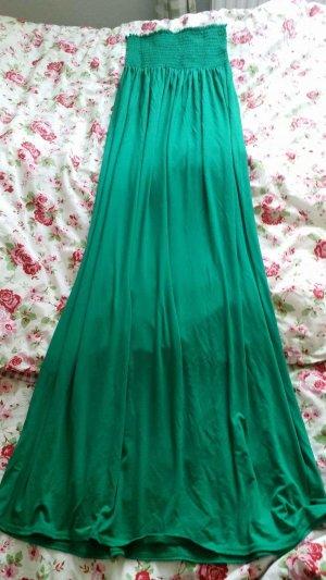 Vestido bandeau verde