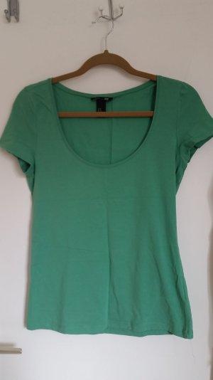 grünes Basic Shirt gr. 40
