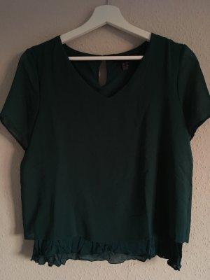 Grünes Chiffon Blusen-Shirt von Mango