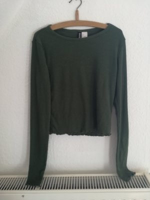 H&M Cropped shirt khaki