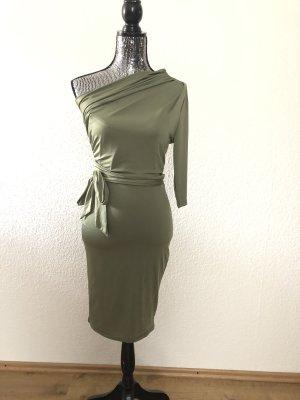 Grünes Figurbetontes One-Shoulder-Kleid in Gr. S