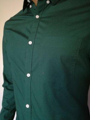 H&M Chemise à manches longues vert forêt