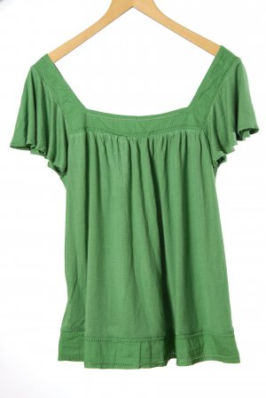 H&M Oversized Shirt green cotton