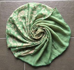 Grünes Halstuch ,  Loop mit Blumen Print