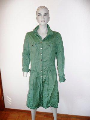 Shirtwaist dress green cotton