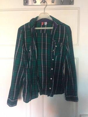 H&M Houthakkershemd zwart-bos Groen