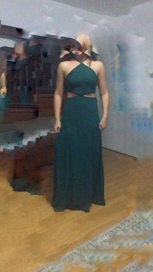 grünes kleid an den seiten frei