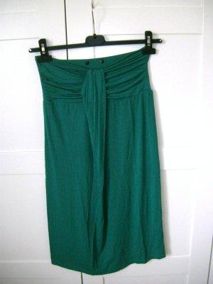 grünes Kleid, Bandeau, schulterfrei, H&M, Gr. 36