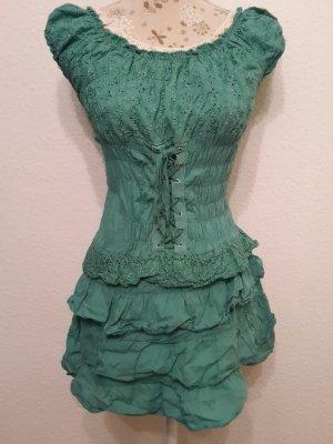 Robe à corsage vert forêt-vert