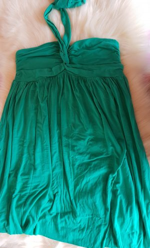 Pepe Jeans Halter Dress forest green viscose