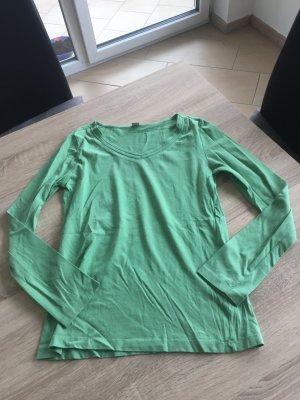 Grünes langarm Shirt