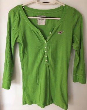 Grünes Langarm- T-Shirt