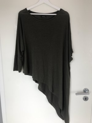 Bershka Shirt groen-grijs