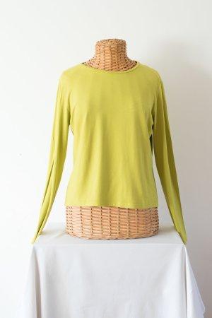Weekend Max Mara V-hals shirt limoen geel Viscose
