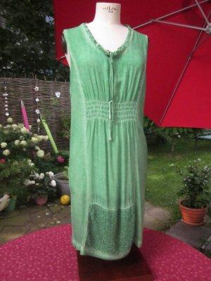 Vestido playero verde claro tejido mezclado