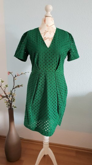 & other stories Sheath Dress green-forest green cotton