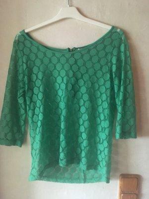 grünes Netzshirt mit 3/4-Arm