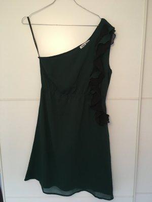 Grünes One-Shoulder Kleid