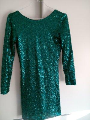 Grünes Pailletten Kleid