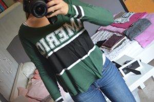 grünes Shirt im Collegestyle von Gina Tricot