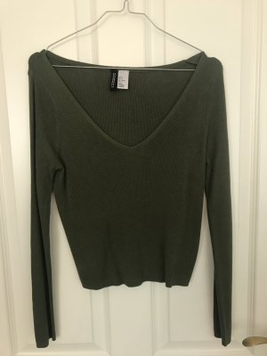 H&M Divided Cropped Shirt khaki-olive green